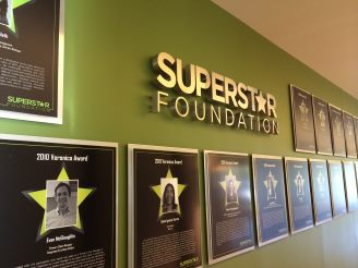 The Superstar Foundation Wall-of-Fame